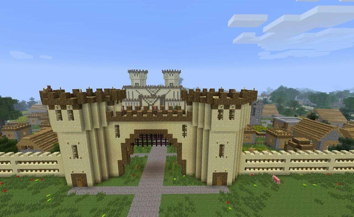 Строить в майнкрафте замок