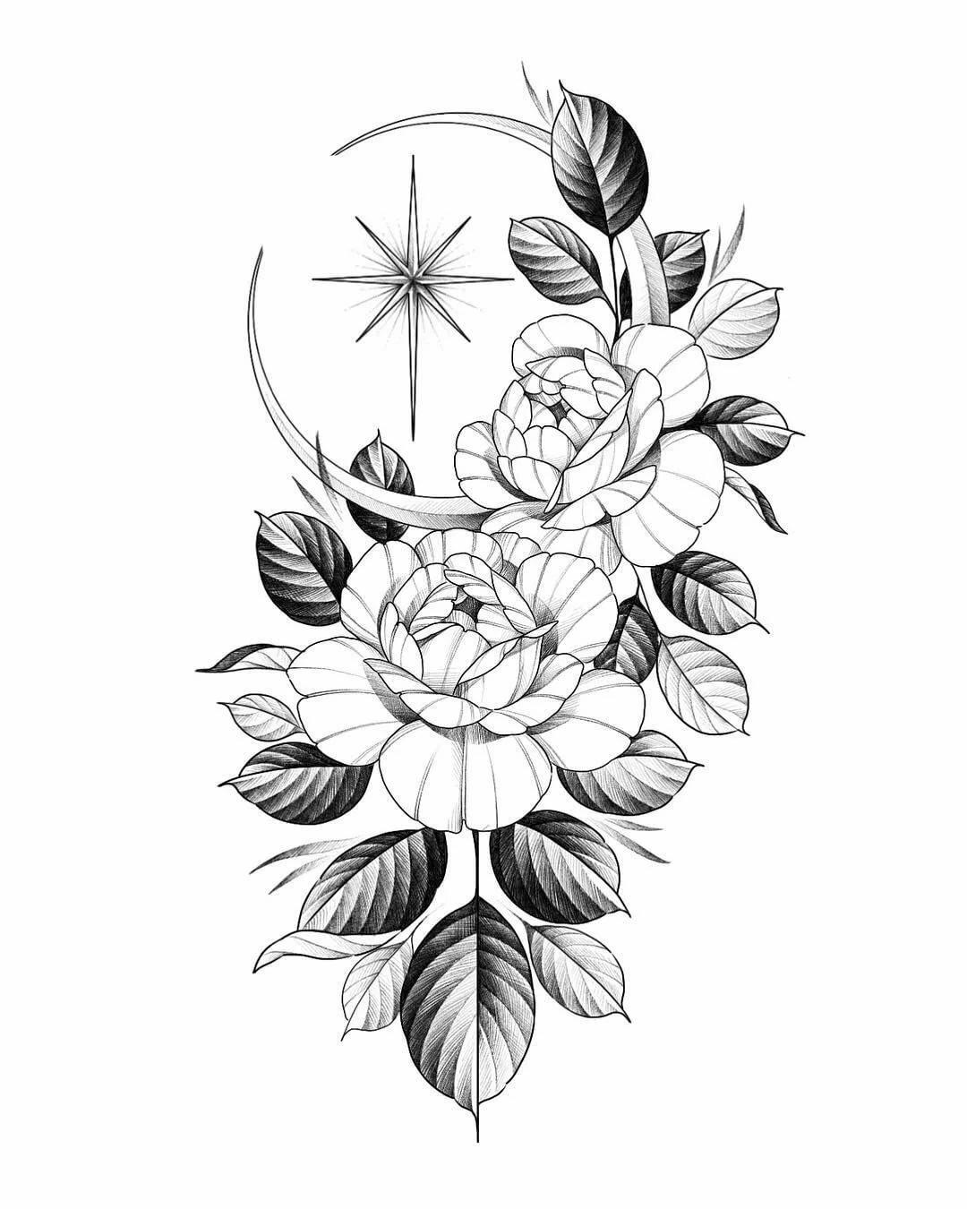 Картинки с цветами тату