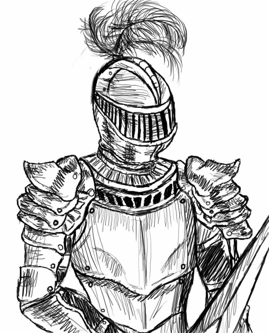 Рыцари карандашом картинки