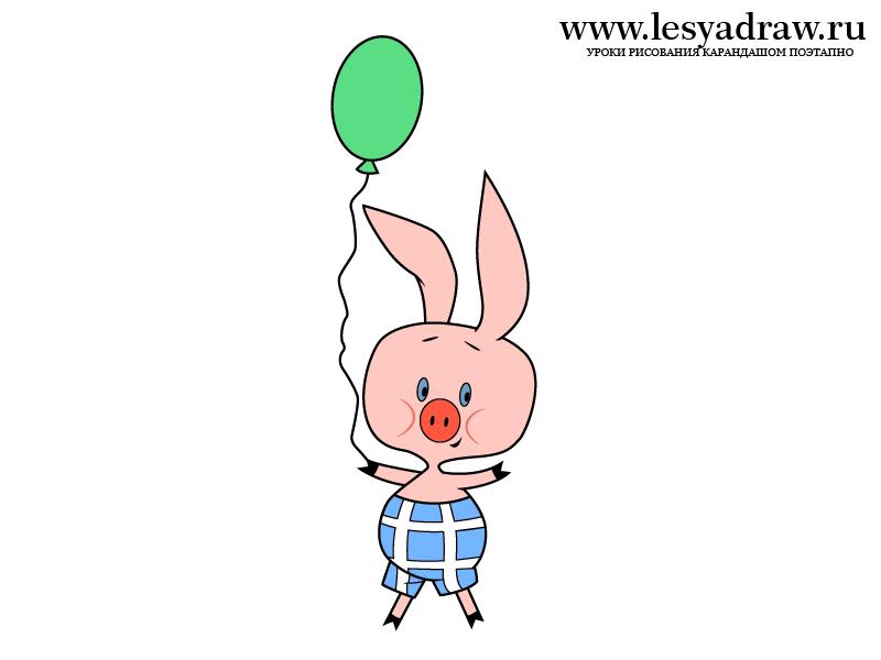 уникальный увлекательный пятачок с шариком картинка само