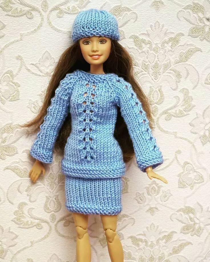 фото схема вязания пальто для барби спицами заметить