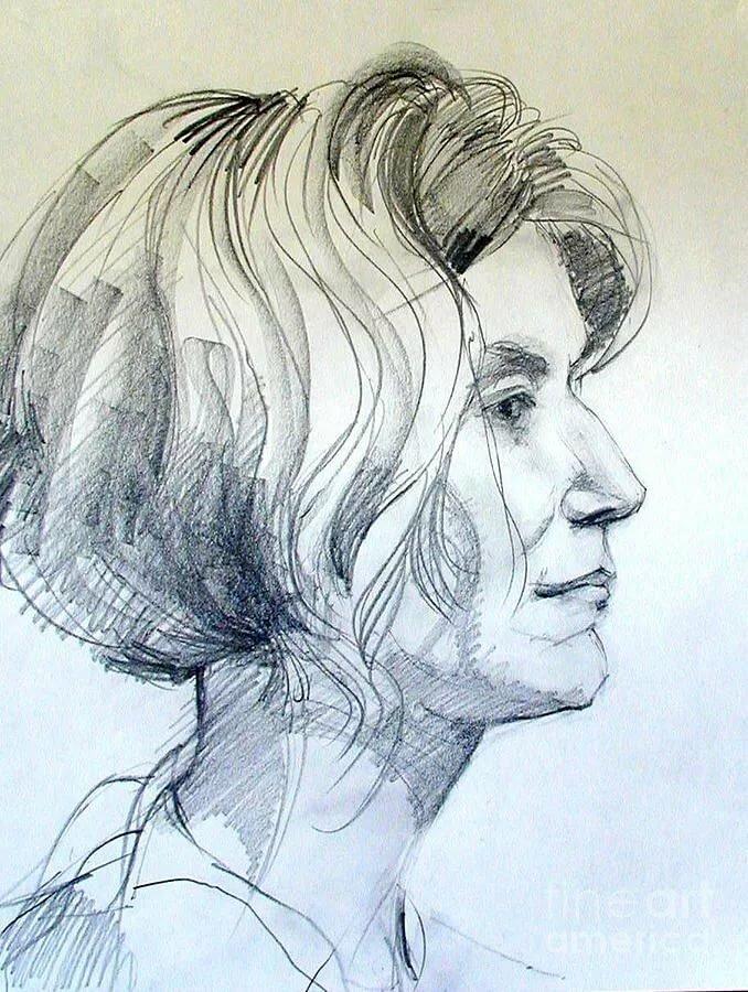 Рисунок человека в профиль картинки