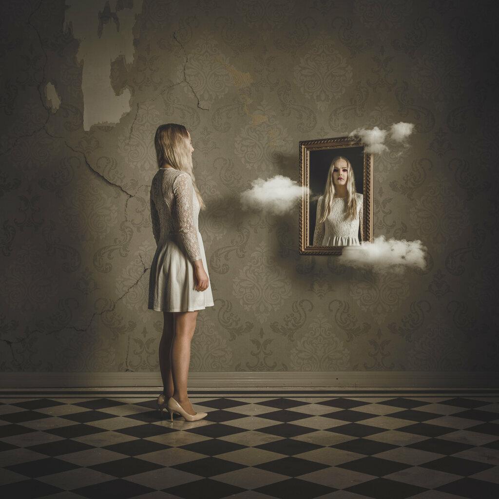 Картинки девушки отражения
