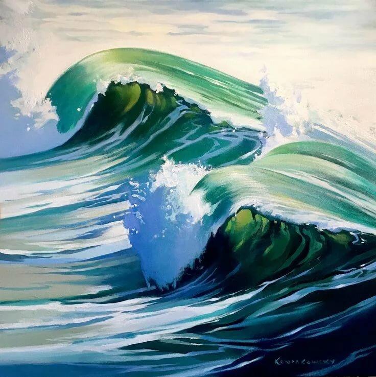 рисунки больших волн собрали подборку фотографий