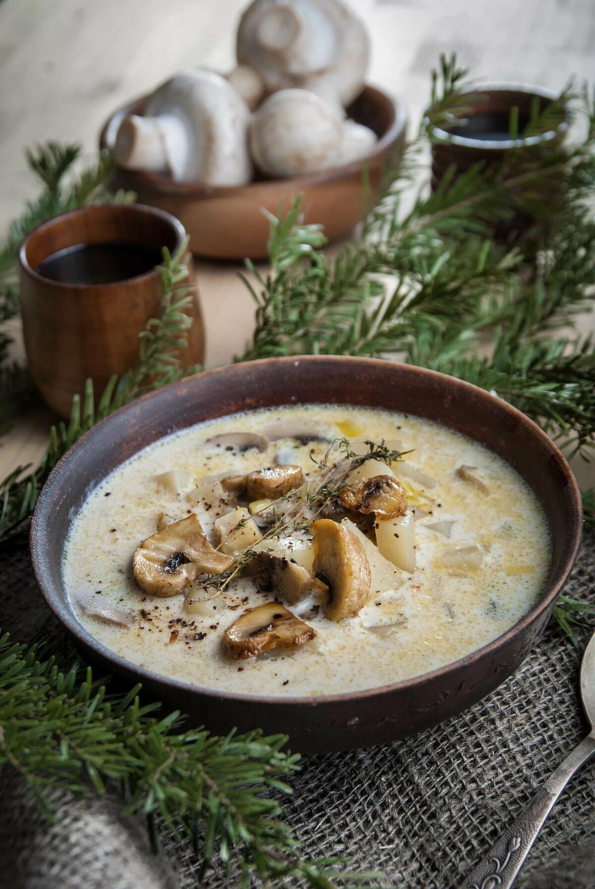 Рецепт в картинках грибной суп
