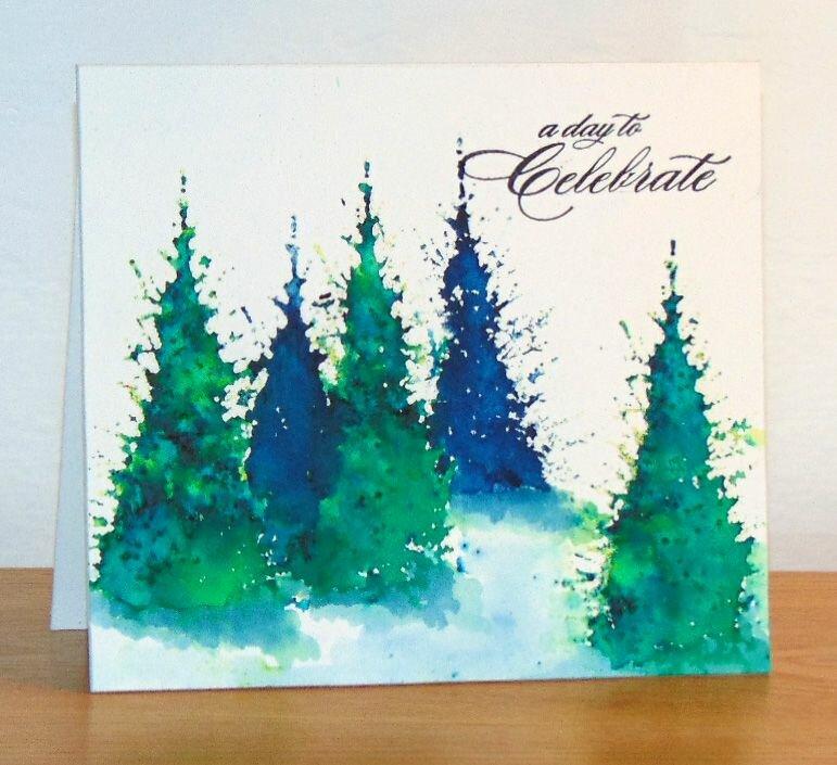 Рисунок для новогодней открытки своими руками