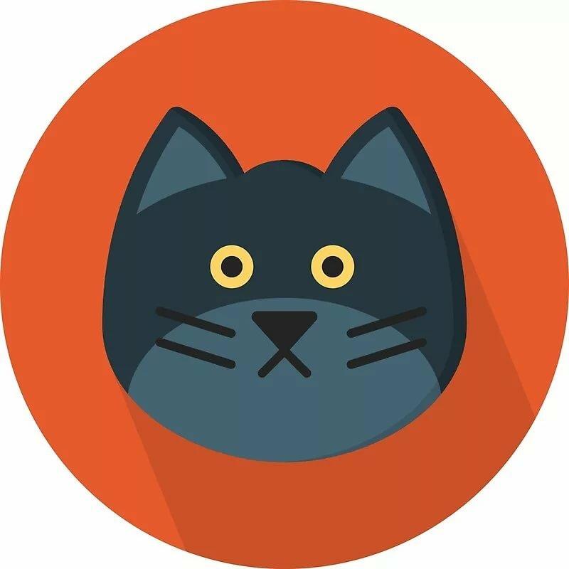картинки кошек в кругах наклейки