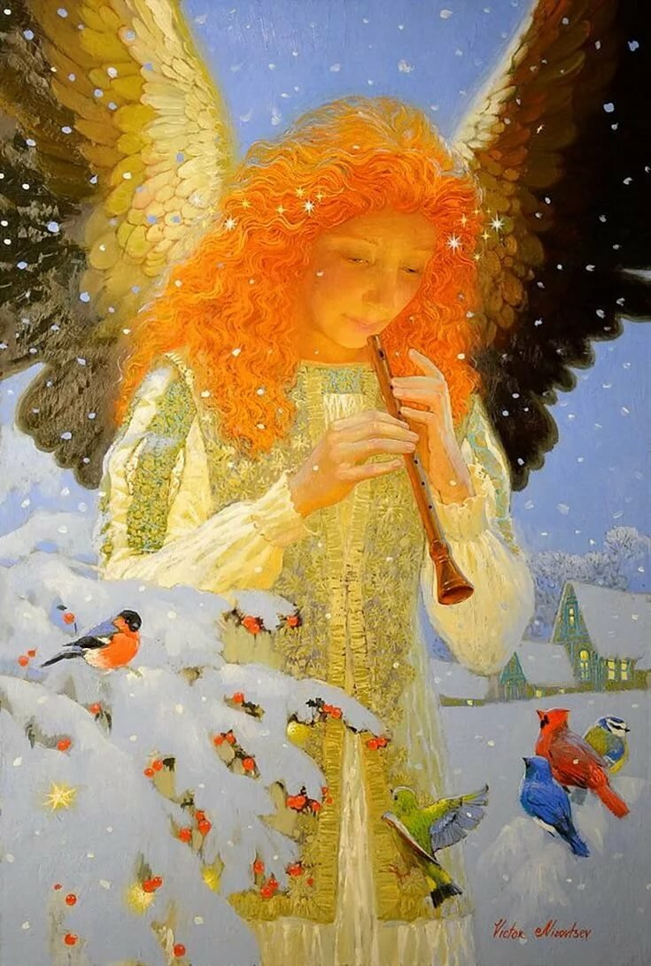 создали картинки зима ангелочки все низкорослые