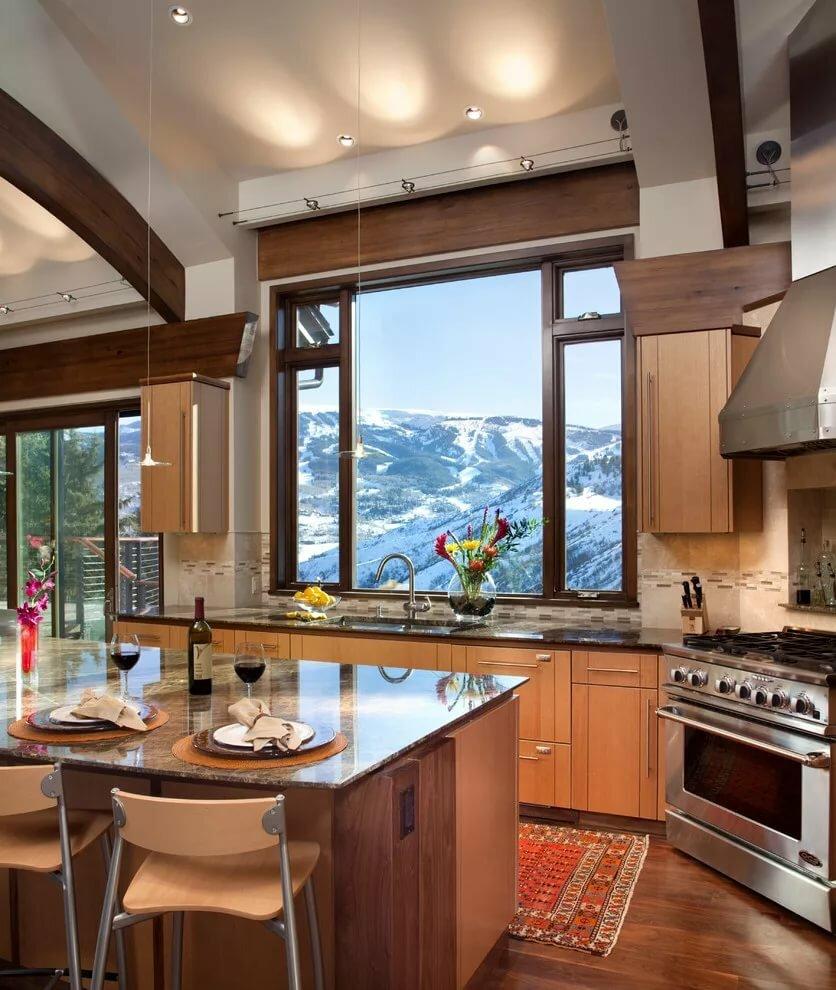 потому картинки кухни с большим окном пришли оговорённый