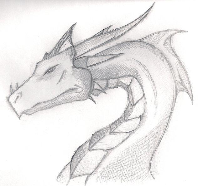 Рисунки легкие и красивые драконы