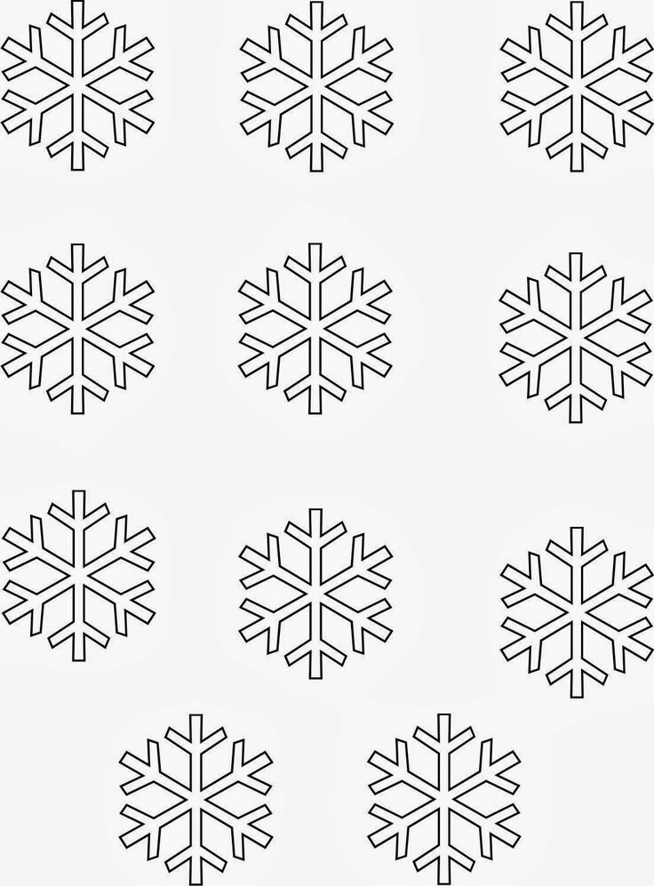 Картинки снежинок для распечатки