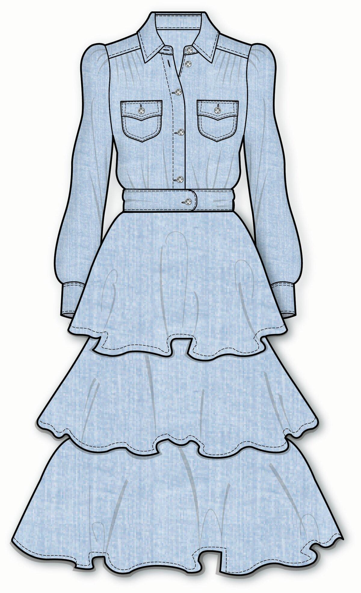 Картинки как рисовать одежду