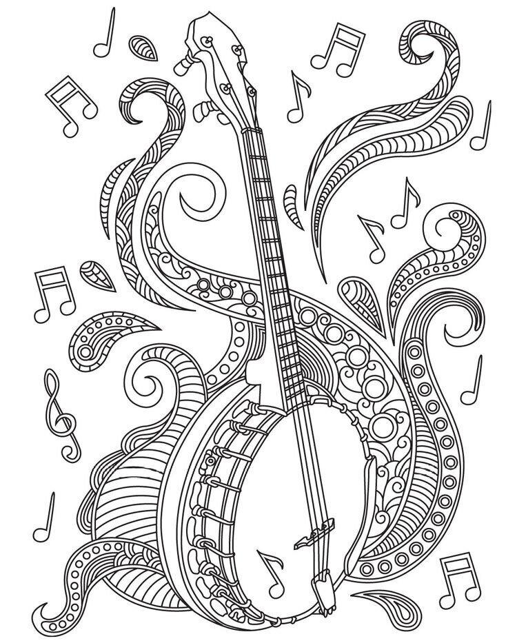 Картинки по музыке раскраски