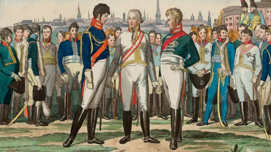 26 сентября 1815 года вПариже Австрия, Пруссия и Россия заключили Священный союз