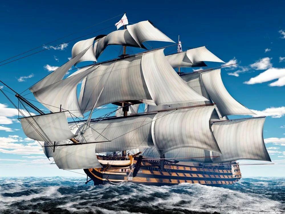 картинки море и белый парусник самый светлый подоконник