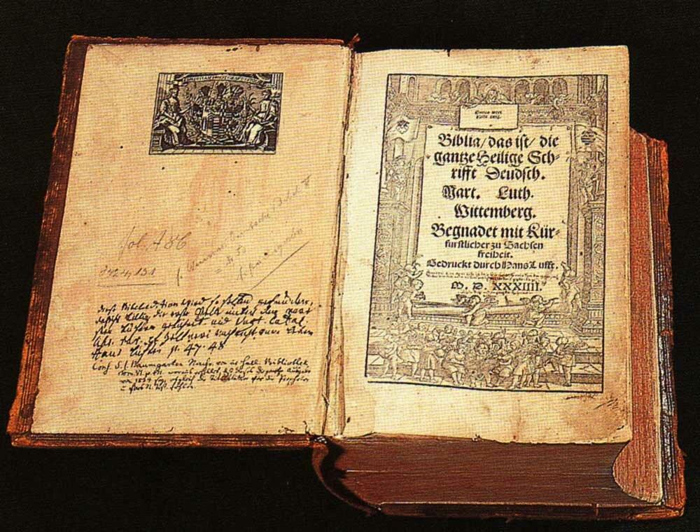 21 сентября 1522 года напечатан «Новый Завет», переведенный Мартином Лютером с древнегреческого языка на немецкий