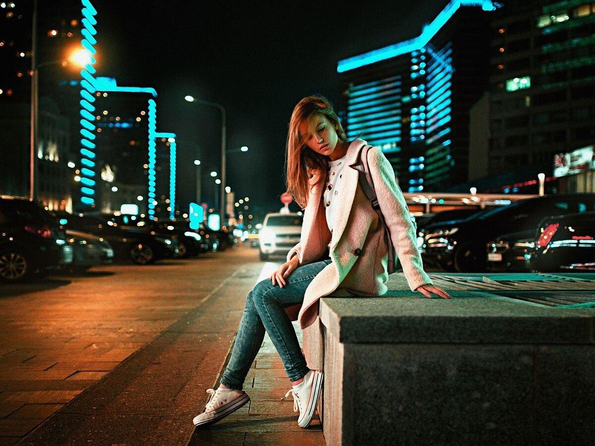 Картинки город и девушка