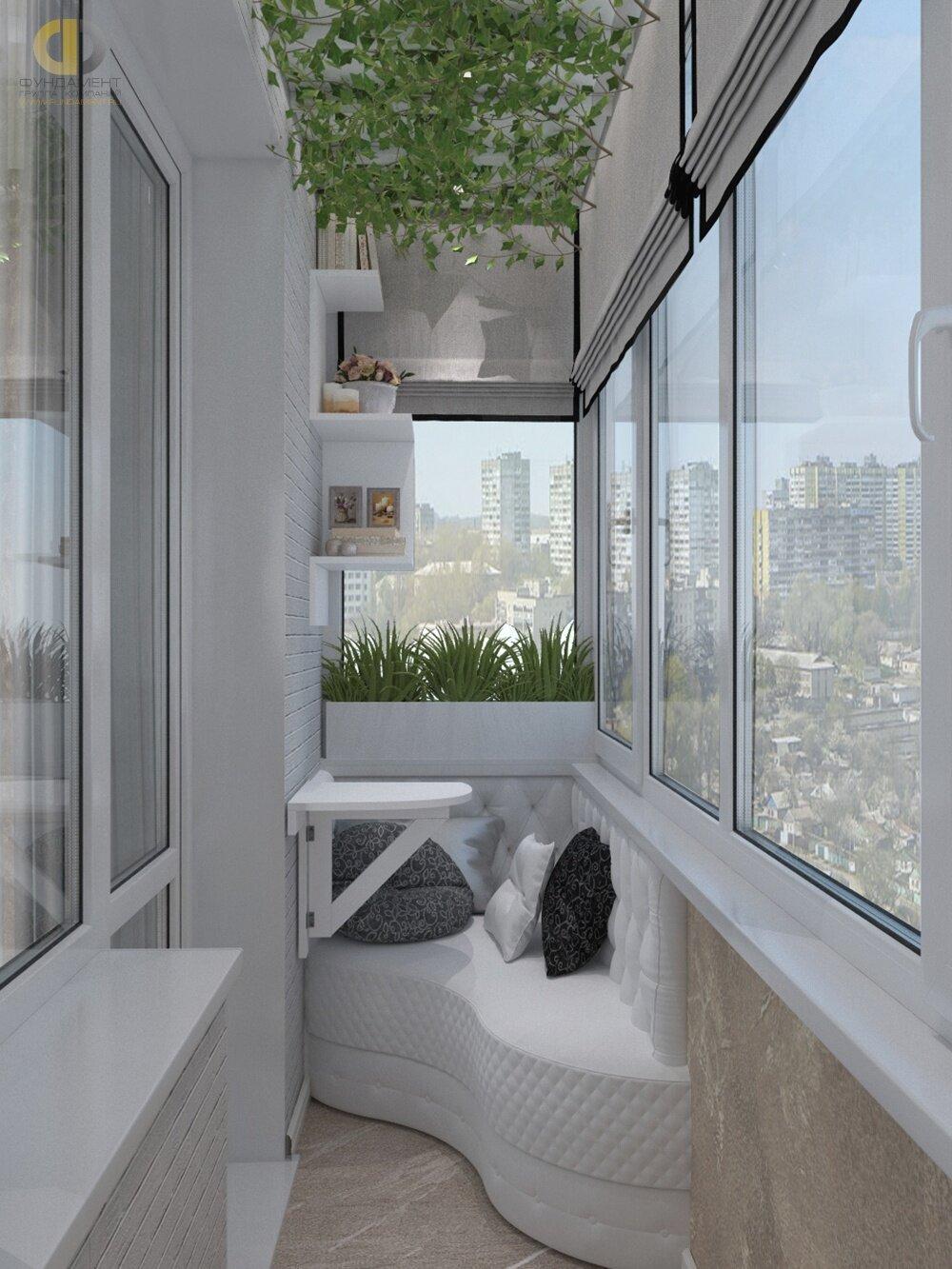 Картинки интерьер балконов