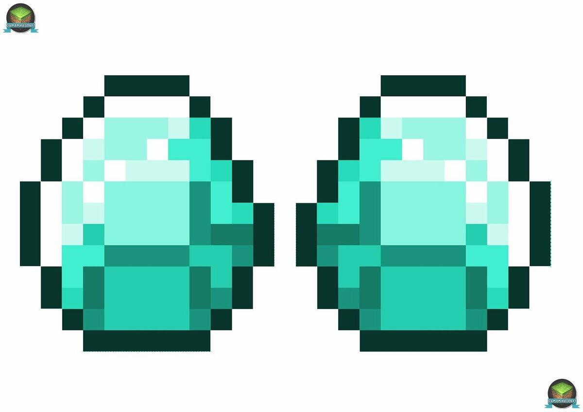 Алмазы из майнкрафта картинки раскраски