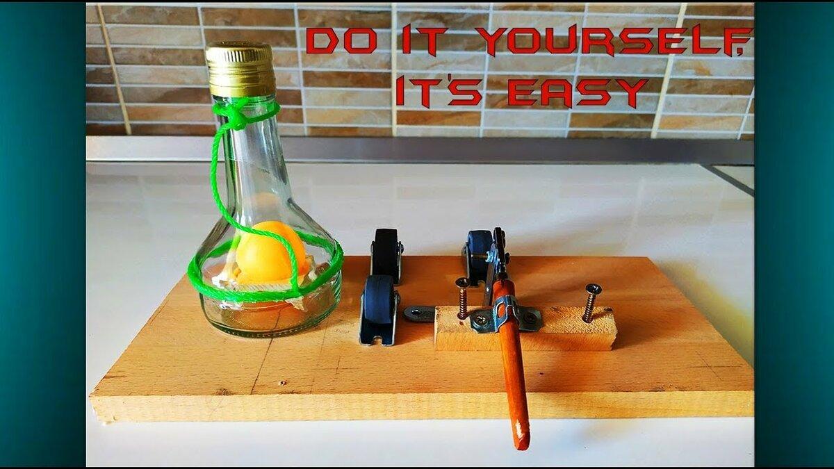 Homemade glass bottle cutter pen brush tombow