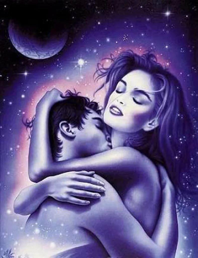 Поцелуй на ночь мужчине картинки