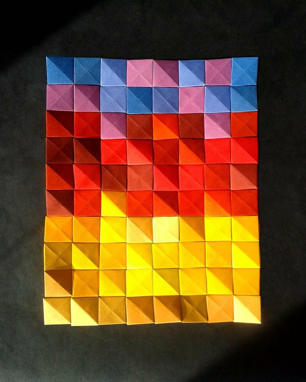 Картинки из бумажных квадратиков