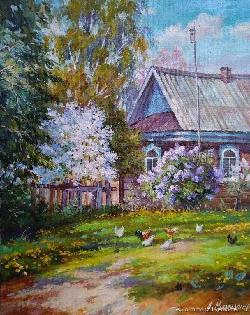картинки с изображением весны в деревне первый взгляд