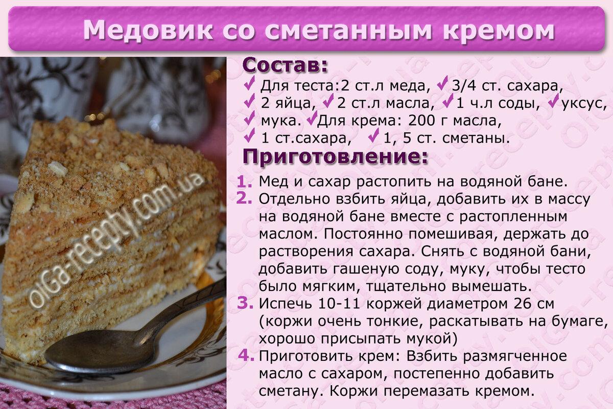 Рецепт торта картинками