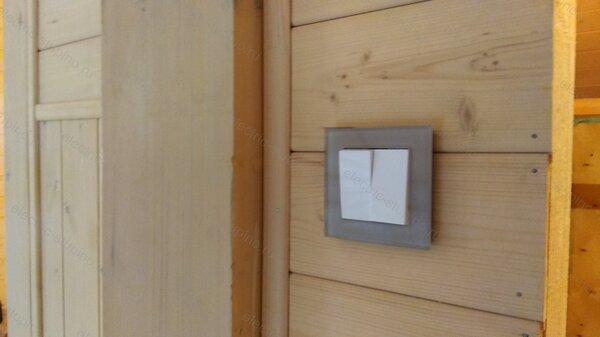 Установка внутреннего Выключателя в деревянном доме