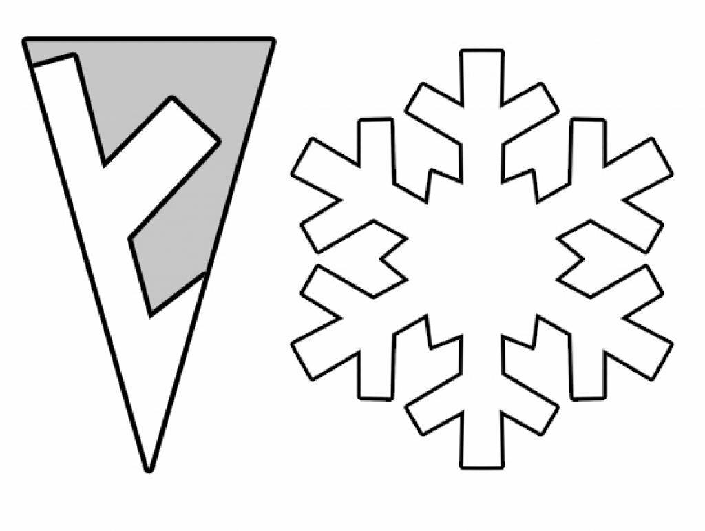 эти рисунок самой простой снежинки каждый