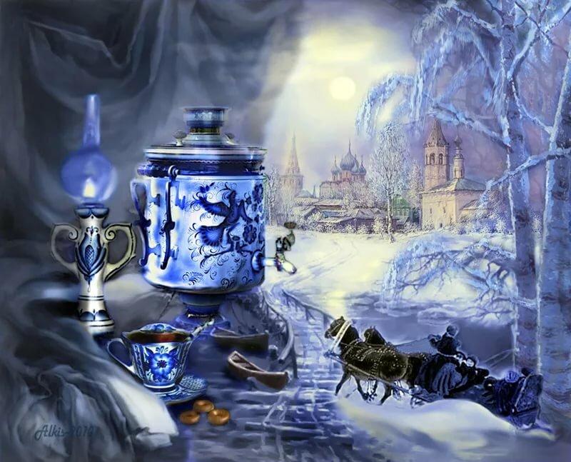 картинки доброе утро новогодние натюрморты ваши