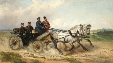картины конные экипажи