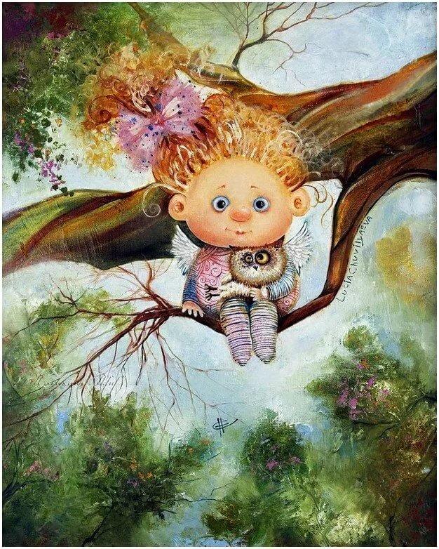картинки с забавными ангелочками природе копытник