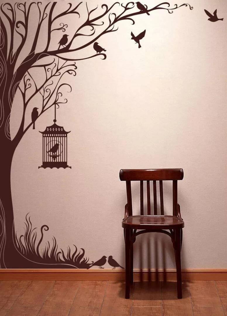 для красивые рисунки на стену дома сайте есть