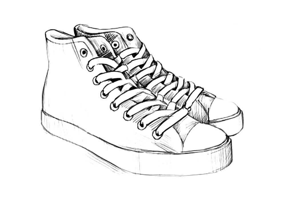 Кроссовки рисунки для срисовки