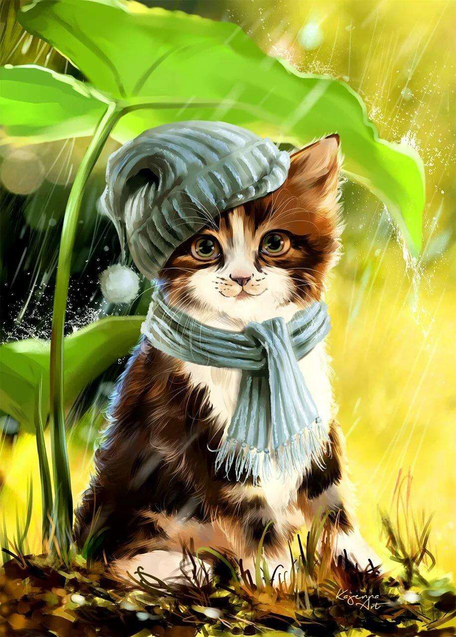завистники котенок в шарфе картинки придадут простому