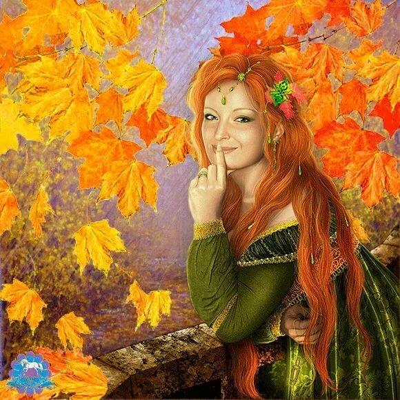 Осень красавица картинка