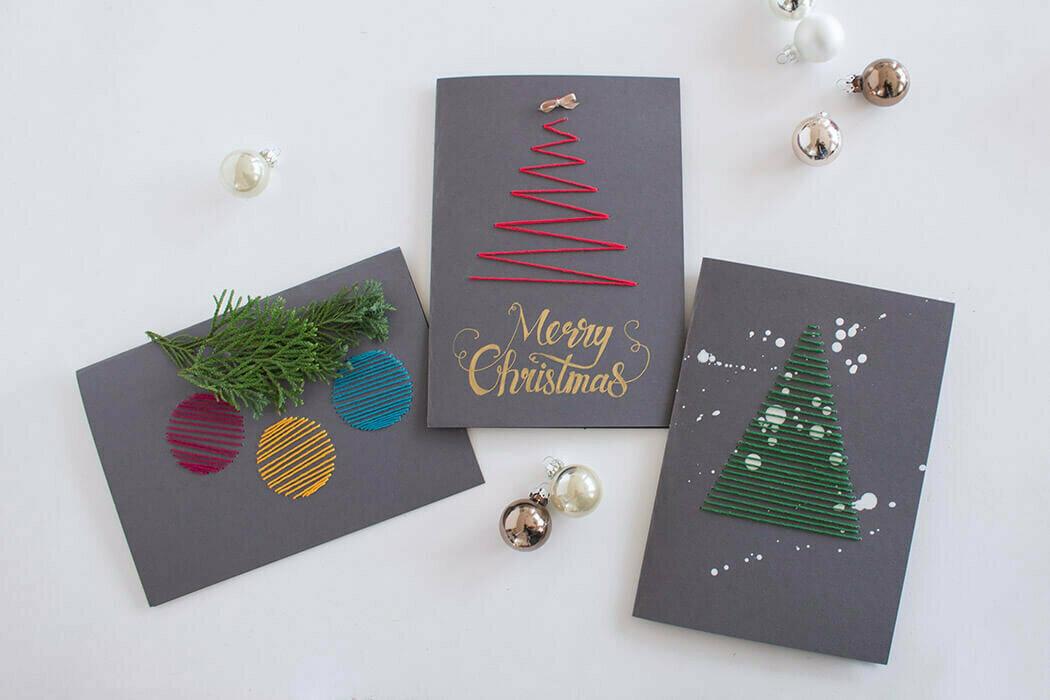 делать, примеры новогодних открыток идет