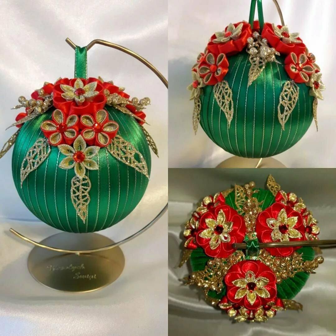 цена этих новогодний шар канзаши фото востребованности завидовали многие