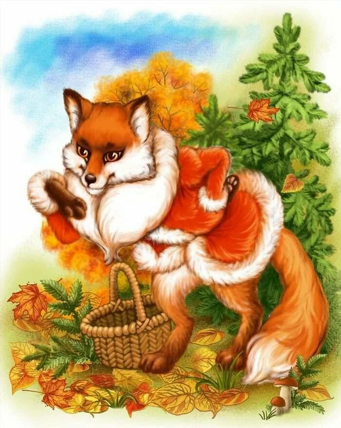 Детские картинки лисичек