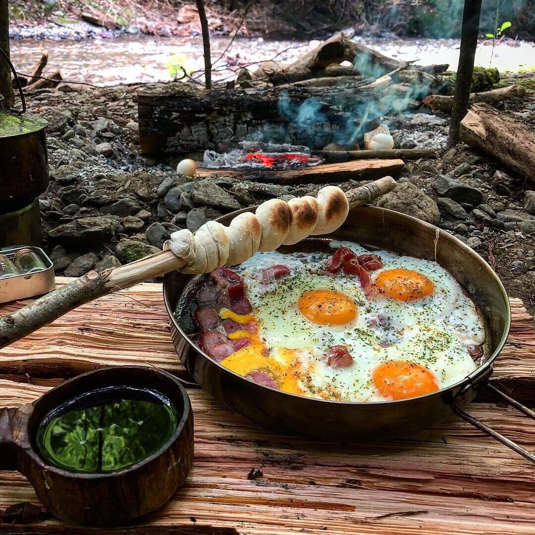 фото еда на костре