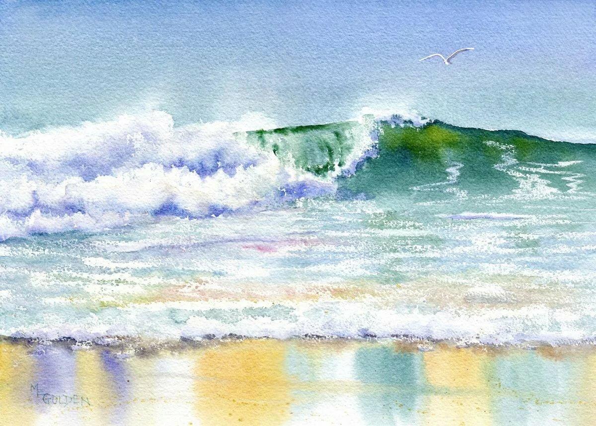 картинки морские пейзажи акварелью