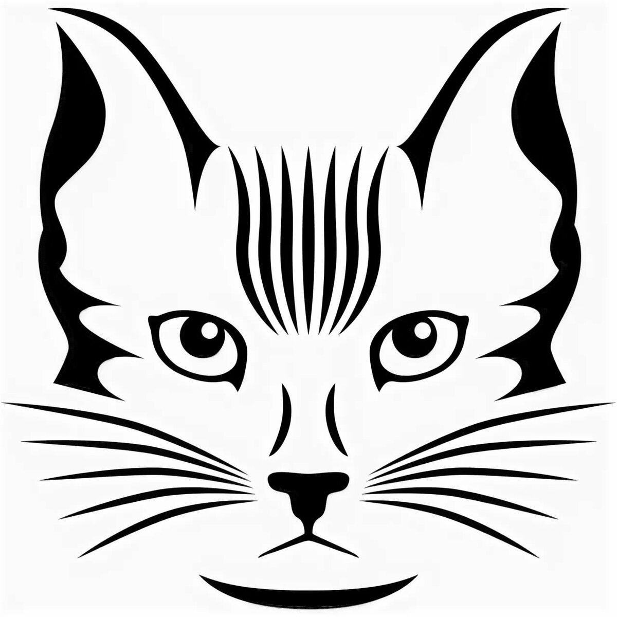 Картинки кошки эскизы