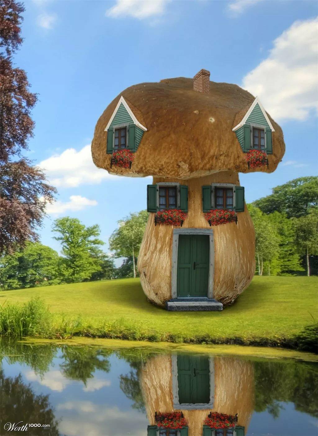 Картинки красивых необычных домов