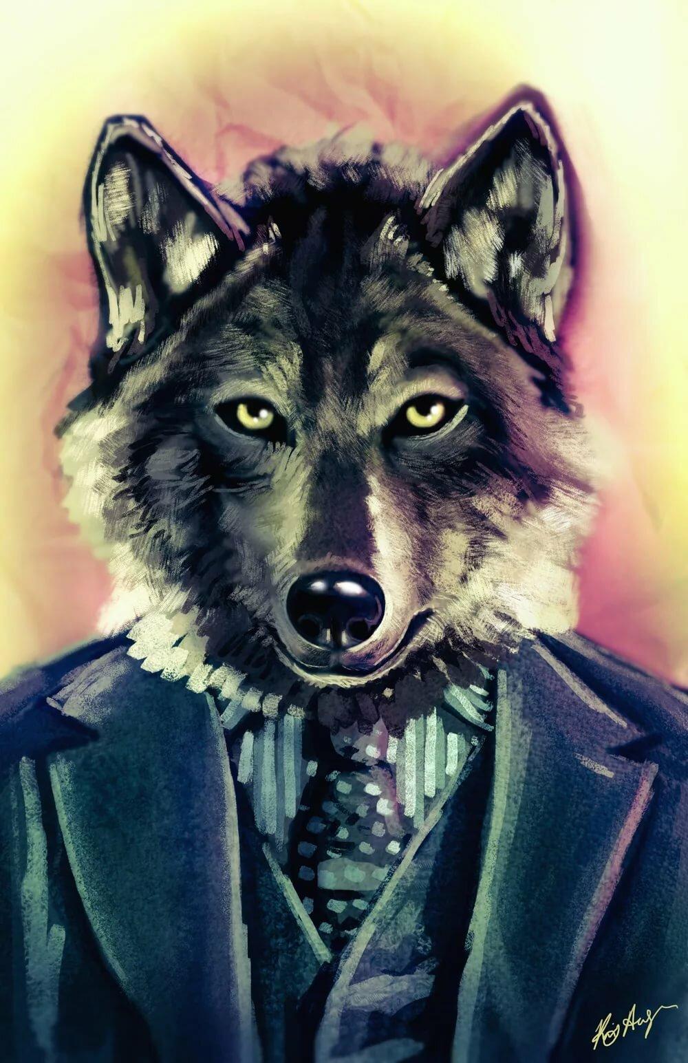 вечерняя прогулка картинки людей с головой волка на аву ловно