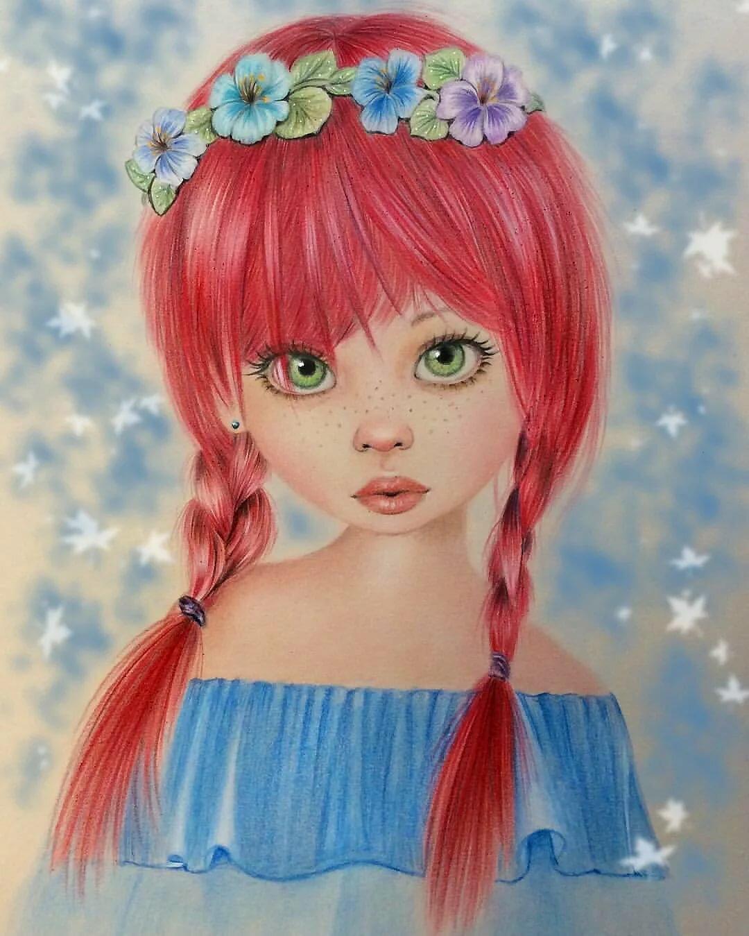 Картинки мультяшных девочек с косичками