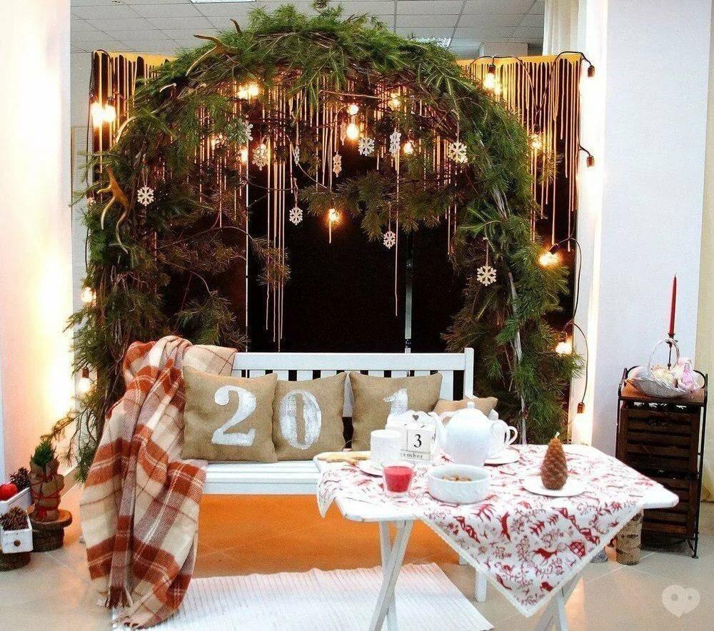 оформление новогодней зоны для фотосессии ест