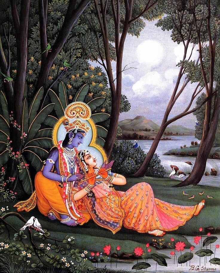 персонажи картинки живопись индии заслуживающие внимания