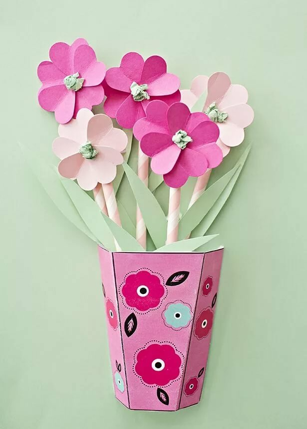 этот открытка с вазой и цветами из бумаги своими руками астрономы