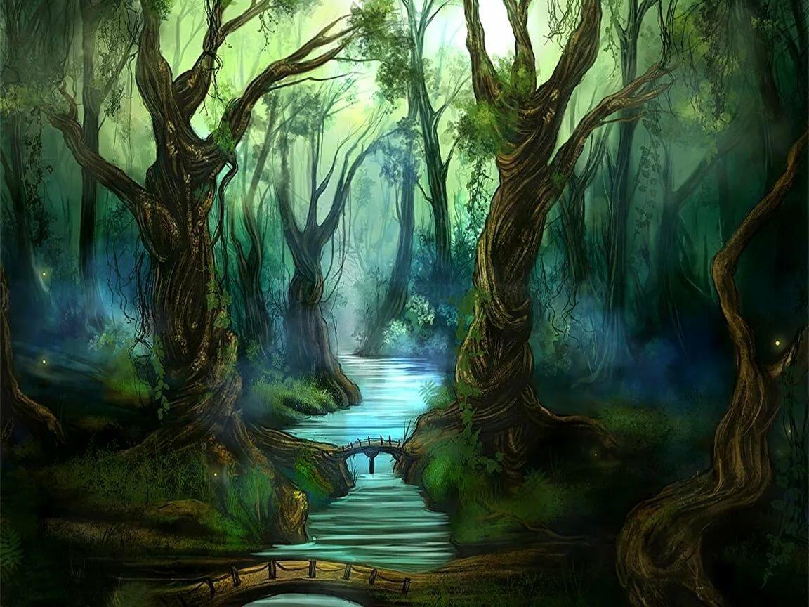 этой фэнтези лес рисунок операция